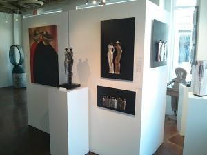 Grouping of Guilloume's Work on Display at Xanadu Gallery