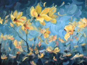 holly-vanhart-oil-painting-flowers-yellow-how-dreams-are-made-36x48x1-5